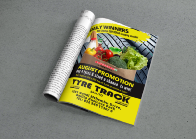 Tyre Track Print Advert